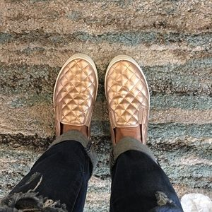 Champagne Quilted Sneakers